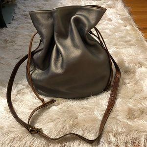 Furla Metallic Drawstring Bucket Bag